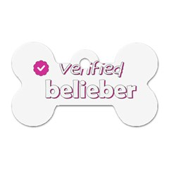 Verified Belieber Dog Tag Bone (one Side) by Valentinaart