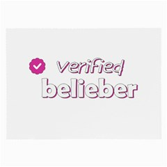 Verified Belieber Large Glasses Cloth