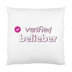 Verified Belieber Standard Cushion Case (two Sides) by Valentinaart