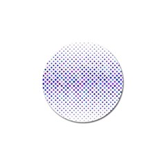 Star Curved Background Geometric Golf Ball Marker