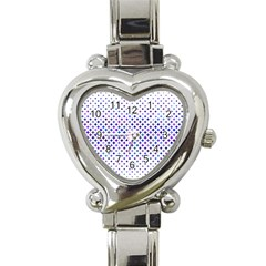 Star Curved Background Geometric Heart Italian Charm Watch
