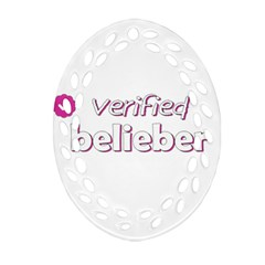 Verified Belieber Ornament (oval Filigree) by Valentinaart