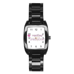 Verified Belieber Stainless Steel Barrel Watch by Valentinaart