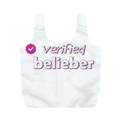 Verified Belieber Full Print Recycle Bags (m)  by Valentinaart