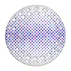 Star Curved Background Geometric Round Filigree Ornament (two Sides)