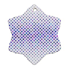 Star Curved Background Geometric Snowflake Ornament (two Sides)