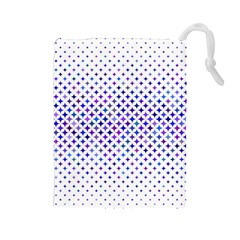 Star Curved Background Geometric Drawstring Pouches (large)