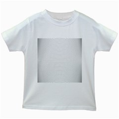 Pattern Background Monochrome Kids White T Shirts