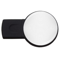 Pattern Background Monochrome Usb Flash Drive Round (4 Gb)