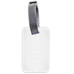Pattern Background Monochrome Luggage Tags (two Sides)