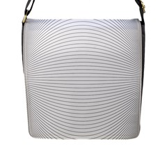 Pattern Background Monochrome Flap Messenger Bag (l)