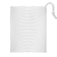 Pattern Background Monochrome Drawstring Pouches (xxl)