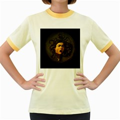 Medusa Women s Fitted Ringer T Shirts by Valentinaart