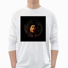 Medusa White Long Sleeve T Shirts by Valentinaart
