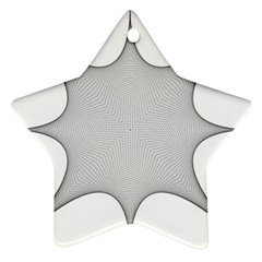 Star Grid Curved Curved Star Woven Ornament (star) by BangZart