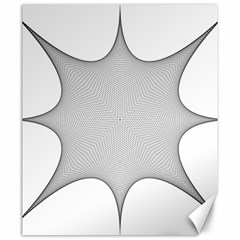 Star Grid Curved Curved Star Woven Canvas 20  X 24   by BangZart