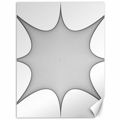 Star Grid Curved Curved Star Woven Canvas 36  X 48