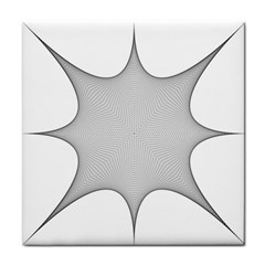 Star Grid Curved Curved Star Woven Face Towel by BangZart