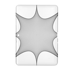 Star Grid Curved Curved Star Woven Samsung Galaxy Tab 2 (10 1 ) P5100 Hardshell Case  by BangZart