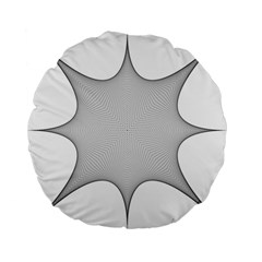 Star Grid Curved Curved Star Woven Standard 15  Premium Flano Round Cushions