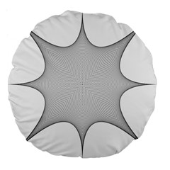 Star Grid Curved Curved Star Woven Large 18  Premium Flano Round Cushions
