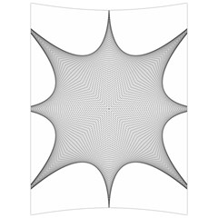 Star Grid Curved Curved Star Woven Back Support Cushion by BangZart