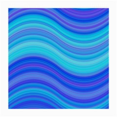 Blue Background Water Design Wave Medium Glasses Cloth (2 Side) by BangZart