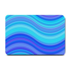 Blue Background Water Design Wave Small Doormat