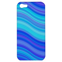 Blue Background Water Design Wave Apple Iphone 5 Hardshell Case