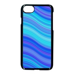 Blue Background Water Design Wave Apple Iphone 8 Seamless Case (black)
