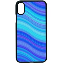 Blue Background Water Design Wave Apple Iphone X Seamless Case (black)