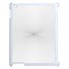 Background Line Motion Curve Apple Ipad 2 Case (white)