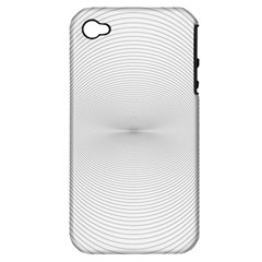 Background Line Motion Curve Apple Iphone 4/4s Hardshell Case (pc+silicone)