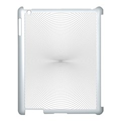 Background Line Motion Curve Apple Ipad 3/4 Case (white)