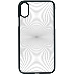 Background Line Motion Curve Apple Iphone X Seamless Case (black)
