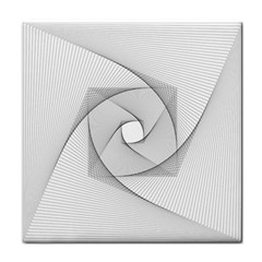 Rotation Rotated Spiral Swirl Tile Coasters by BangZart