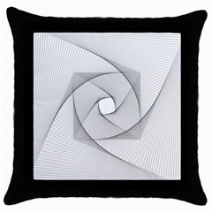 Rotation Rotated Spiral Swirl Throw Pillow Case (black) by BangZart