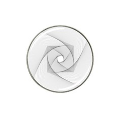 Rotation Rotated Spiral Swirl Hat Clip Ball Marker (4 Pack)