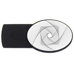 Rotation Rotated Spiral Swirl Usb Flash Drive Oval (4 Gb) by BangZart