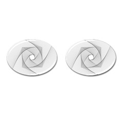 Rotation Rotated Spiral Swirl Cufflinks (oval) by BangZart