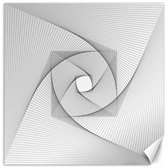 Rotation Rotated Spiral Swirl Canvas 12  X 12   by BangZart