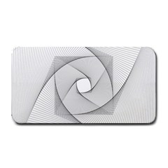 Rotation Rotated Spiral Swirl Medium Bar Mats by BangZart