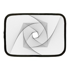Rotation Rotated Spiral Swirl Netbook Case (medium)  by BangZart