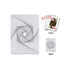 Rotation Rotated Spiral Swirl Playing Cards (mini)