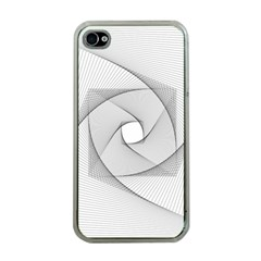 Rotation Rotated Spiral Swirl Apple Iphone 4 Case (clear)