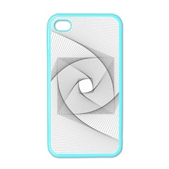 Rotation Rotated Spiral Swirl Apple Iphone 4 Case (color)
