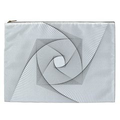 Rotation Rotated Spiral Swirl Cosmetic Bag (xxl)