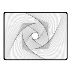 Rotation Rotated Spiral Swirl Double Sided Fleece Blanket (small)