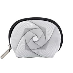 Rotation Rotated Spiral Swirl Accessory Pouches (small)  by BangZart