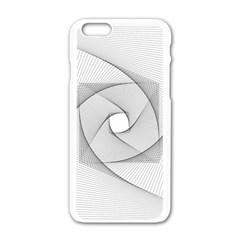 Rotation Rotated Spiral Swirl Apple Iphone 6/6s White Enamel Case